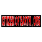 Citizen Of Earth.... Sticker (Bumper)