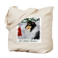 Tri-Color Collie Christmas Tote Bag