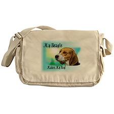 My Beagle Makes My day Messenger Bag