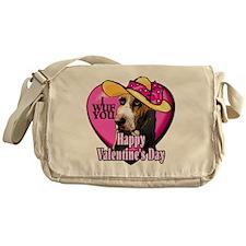 Basset Hound Valentines Messenger Bag