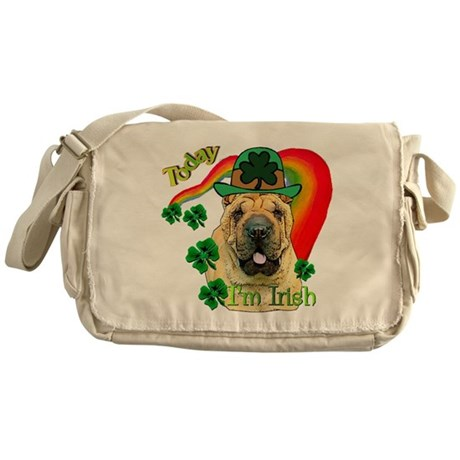 St. Pattys Shar-Pei Messenger Bag