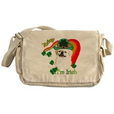 St Patty Pekingese Messenger Bag