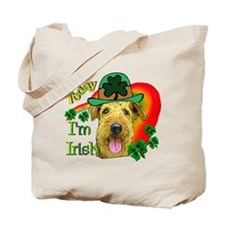 St. Patricks Airedale Tote Bag