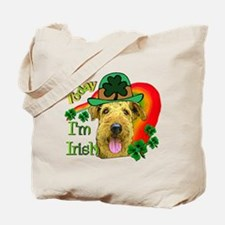 St. Patricks Airedale Tote Bag
