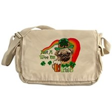 St. Patrick's Day Pug Messenger Bag