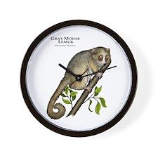 Gray Mouse Lemur Wall Clock