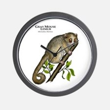 Gray Mouse Lemur Wall Clock