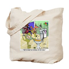 Champagne in the Toilet Tote Bag