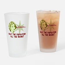 Smart Women Drinking Glass