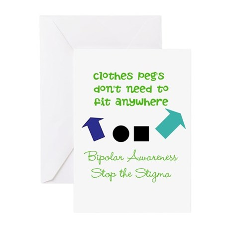 Pegs Greeting Cards (Pk of 20)