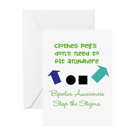 Pegs Greeting Card