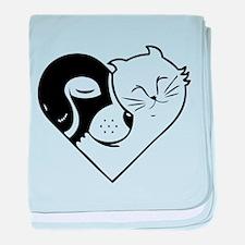 CatDog Heart baby blanket