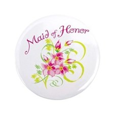 "Maid of Honor 3.5"" Button"
