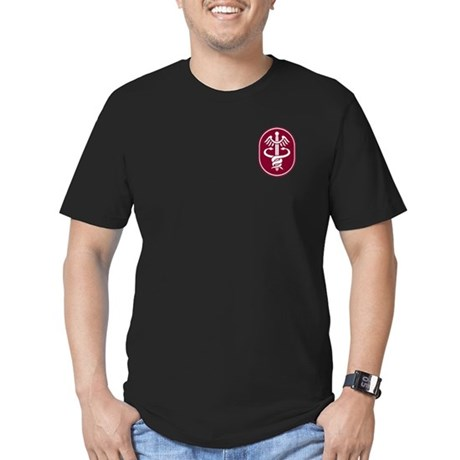 Caduceus Men's Fitted T-Shirt (dark)