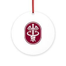 Caduceus Ornament (Round)