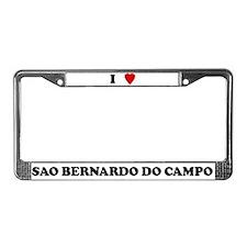 I Love Sao Bernardo do Campo License Plate Frame