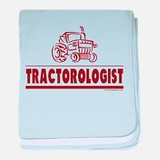 Humorous Tractor baby blanket