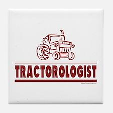 Humorous Tractor Tile Coaster
