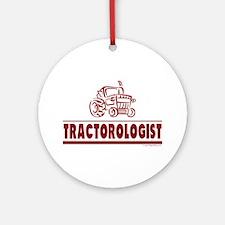 Humorous Tractor Ornament (Round)