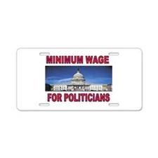 CUT THEIR PAY NOW Aluminum License Plate