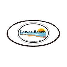 Lewes Beach DE - Oval Design Patches
