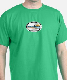 Lewes Beach DE - Oval Design T-Shirt