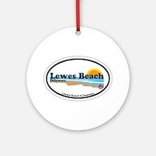 Lewes Beach DE - Oval Design Ornament (Round)
