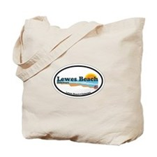 Lewes Beach DE - Oval Design Tote Bag