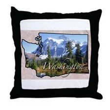 Cute Washington Throw Pillow