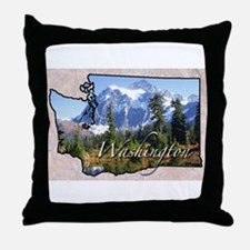 Funny State Throw Pillow