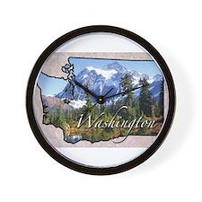 Cute Washington state Wall Clock