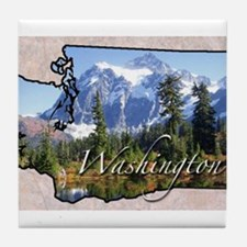 Cute Washington Tile Coaster