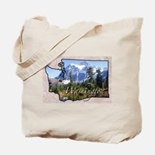 Cute Washington state Tote Bag
