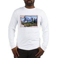 Cute Washington state Long Sleeve T-Shirt