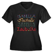 Isabella Women's Plus Size V-Neck Dark T-Shirt