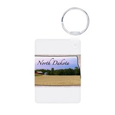 Cute State north dakota Keychains