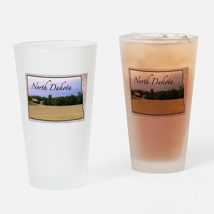 Cute North dakota Drinking Glass