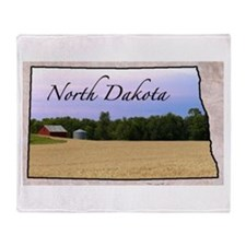 Cute North dakota Throw Blanket