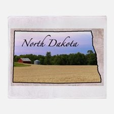 Cute North dakota Throw Blanket