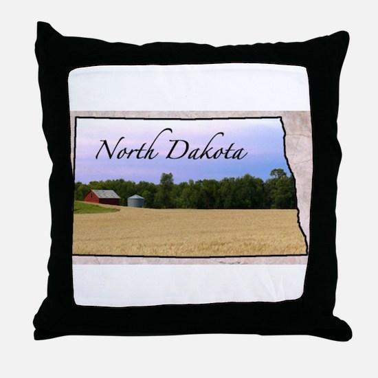 Cute North dakota Throw Pillow