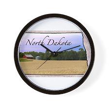 Cute North dakota Wall Clock