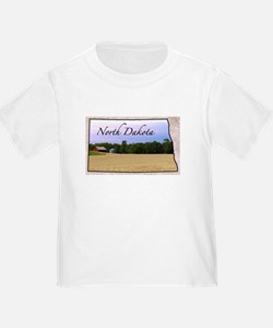 Cute North dakota state bison T