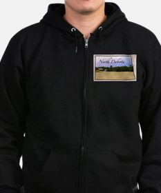 Cute North dakota Zip Hoodie