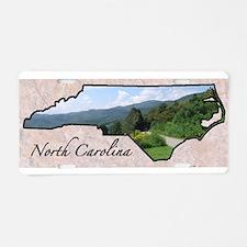 Unique North carolina Aluminum License Plate