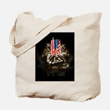 Twin Towers In His Hands Tote Bag