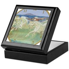 NEPTUNE'S HORSES CLOCK Keepsake Box