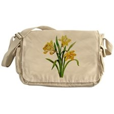 HOST OF DAFFODILS FAUX EMBROIDERY Messenger Bag