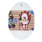Americana 1: Home of the Brav Oval Ornament
