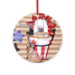 Americana 1: Home of the Brav Ornament (Round)