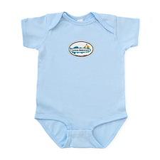 Lewes Beach DE - Oval Design Infant Bodysuit